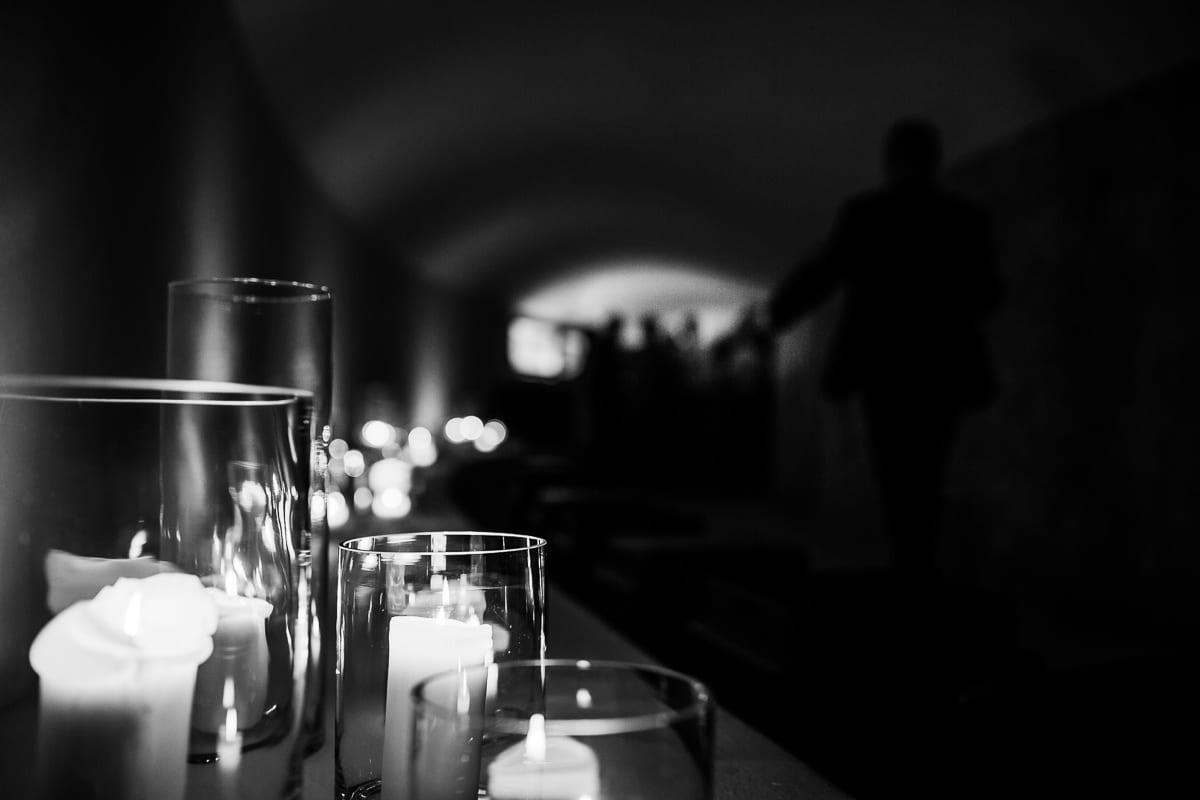 Kerzendekoration am Eingang der Partylocation im Hotel Cap Rocat.
