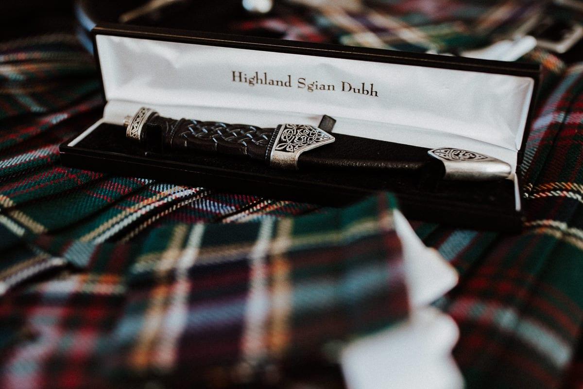 Detailaufnahme des schottischen Messers.