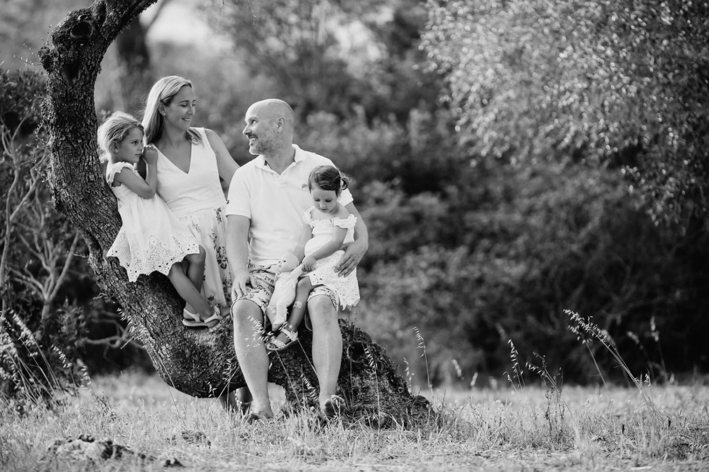 Familiengruppenfoto auf Mallorca