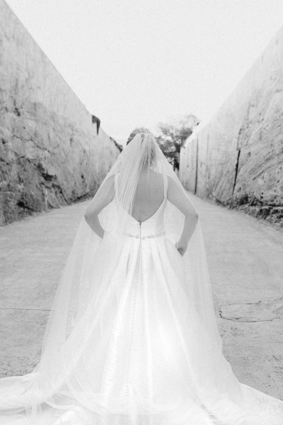 Die Braut von hinten