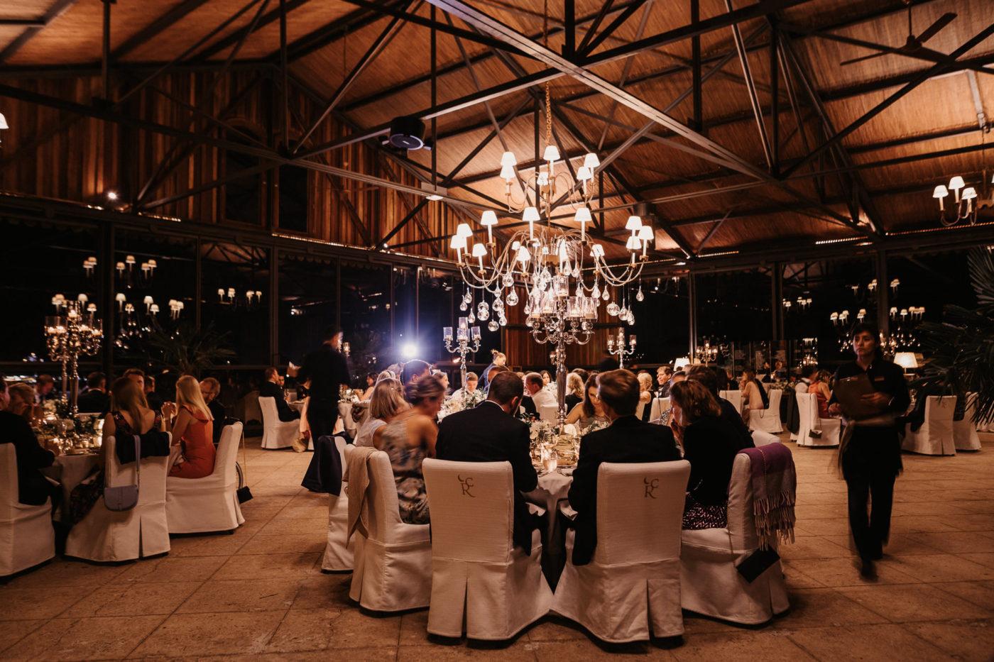 Der Dinner Saal in der Hochzeitslocation Cap Rocat